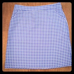 Royal blue and white Brooks Brothers skirt. Size 6